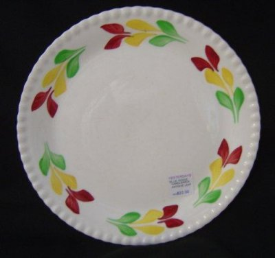 "Blue Ridge Pottery ""Antique Leaf"" Dinner Plate"