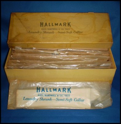 Antique Starched White Formal Collars in Original Box