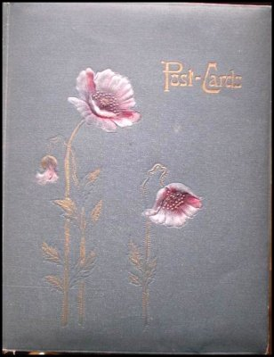 1909 Postcard Album with 102 Holiday Greeting Cards