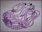 Nolan Miller Triple Strand Purple Crystal Beads Necklace