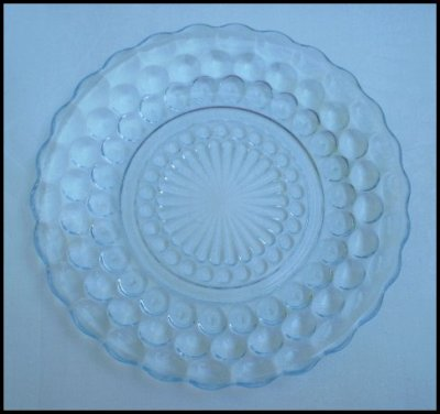 Anchor Hocking Sapphire Blue Bubble Bread & Butter Plate