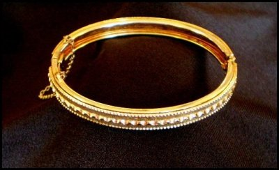 Goldtone Clamper Bracelet by Whiting Davis