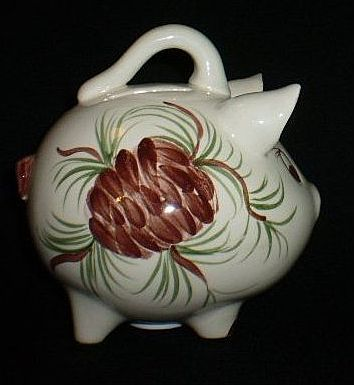 Erwin Pottery Pine Cone Piggy Bank